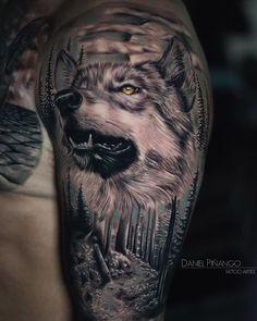Wolf Tattoo Shoulder, White Wolf, Tattoo Artists, The Darkest, Study, Ink, Touch, Tattoos, Instagram