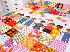 Scandi children's fabric bedspread by Jane Foster