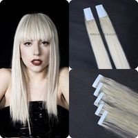 60# Blonde Color brazilian Tape Hair Extension/skin weft hair extension strong blue lace tape adhesive for women Hair Extensions