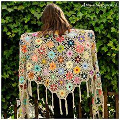 #T71 Foto Tutorial + Video: Chal de Flores a Crochet ~ CTejidas [Crochet y Dos Agujas]