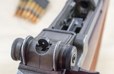 Storied Guns: The M1 Garand, The adjustable aperture sights on the M1 are excellent.