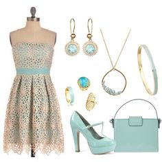 """""""Crocheted and Blue"""" by bethherrmann on Polyvore"""