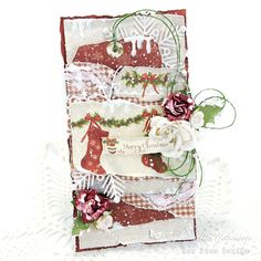Hello Everyone! I always have the best intentions every holiday season to get all my cards done and it never seems to go as planned, so I. Winter Cards, Holiday Cards, Holiday Decor, Christmas Tag, Christmas Stockings, Card Making Inspiration, Creative Cards, Hello Everyone, Wedding Anniversary