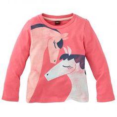 Schöne Pferde Little Girls Tee-Shirt | Tea Collection