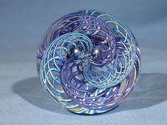 Marbles: Hand Made Art Glass James Alloway Dichroic Quadmania #192 2.43inch
