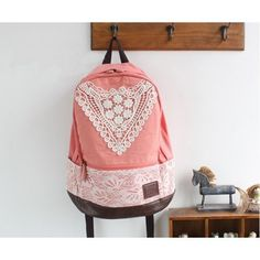 Cute Canvas Backpack with Lace ($39)
