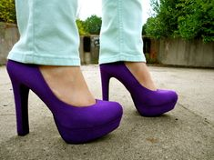 mossimo purple heels from target