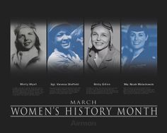 March is Women's History Month.  *Why should ANYONE'S history be confined to a month? It takes everyone's history to understand the human story. jandm