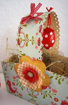 diadu: (oster-)geschenke-körbchen aus papier basteln