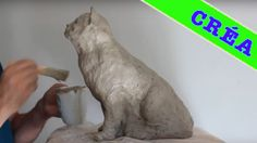 CHAT, Sculpture en argile  - CAT Speed modeling