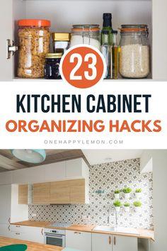 Storage Hacks, Organization Hacks, Organizing, Kitchen Organization Pantry, Tupperware, Utensils, Bowls, Spices, Sink