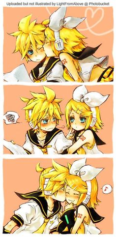 Rin and Len Kagamine - although im not a very big fan of that pairing, this is still cute. :)
