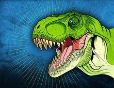 Dinosaur Print Tyrannosaurus Jurassic Park Jurassic World