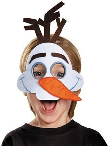 Disney's Frozen Olaf Felt Mask - Do you like warm hugs? Everyone will love this simple and cute felt Olaf Mask. Perfect for Halloween or a fun snowman at Christmas! Olaf Birthday, Frozen Birthday Party, Frozen Party, Olaf Frozen, Olaf Halloween Costume, Halloween Makeup, Olaf Craft, Olaf Party, Frozen Crafts