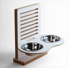 Wall mounted pet dish for small to tall size dog by drip module  .bathroom.
