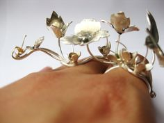 Silver ring by Michelle Pujol.