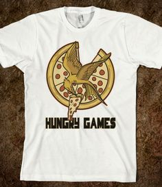 Hungry Games....Pizza Shirt #catchingfire #hungergames #food #pizza #parody #funny #geek #nerd #district13 $27.99