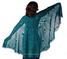 pretty peacock shawl pattern from Some Knitting Required. I wish I could knit!