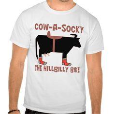 Cow A Socky The Hillbilly Bike T-Shirt  2e8ae11e9