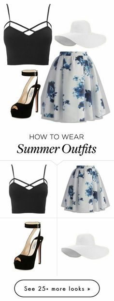 #black #white #moda 2016 Summer Outfits, Casual Outfits Summer Classy, Party Outfit Summer, Summer Skirt Outfits, Tea Party Outfits, Spring Outfits For School, Derby Outfits, Casual Heels, Party Dresses