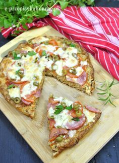 Dietetyczna pizza na otrębowym spodzie | Przepisy Kulinarne