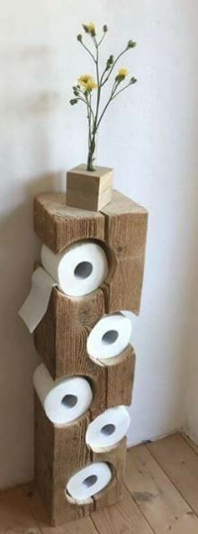 rustic decor and toilet paper holder Bathroom Renos, Table Legs, Toilet Paper, Rustic Decor, Project Ideas, Projects, Farm House, Architecture, Storage