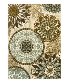 Love this Cream Inspired India Rug by Mohawk Home on #zulily! #zulilyfinds