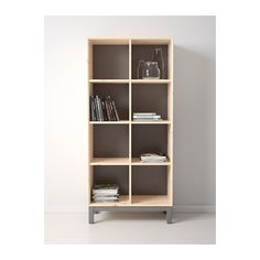 IKEA - NORNÄS Bookcase, pine, gray $159.00  Alternative - bookcase open from both sides?