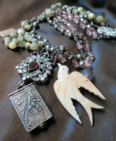 vintage assemblage necklace  FRENCH MEMORIES  by TheFrenchCircus, $245.00