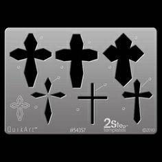 QuikArt 2Step Template - Crosses 3