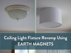 A Contractor Grade Ceiling Fixture Gets A DIY Barrel Shade That Is Attached  With