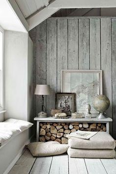 Inspiracje:drewniana ściana | Domowe DIY, wystrój wnętrz, dekoracje, inspiracje - blog wnętrzarski KOKOSHKA.PL