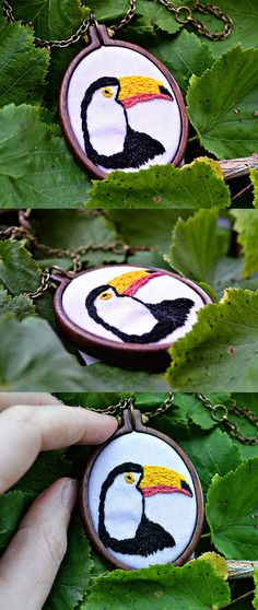 miniature embroidery pattern - the toucan