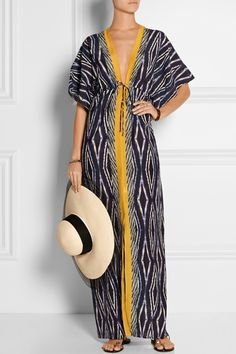 Vix | Moorish Val printed cotton and silk-blend dress | NET-A-PORTER.COM