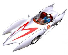 Mach 5 Speed Racer Cartoon, Delorean Time Machine, Japanese Superheroes, Garage Art, Foto Art, Classic Cartoons, Automotive Art, Amazing Cars, Hot Cars