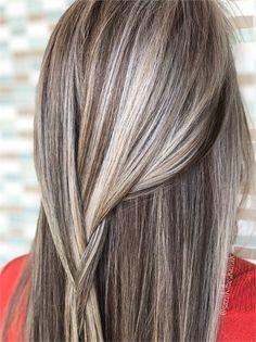 No-Filter Secrets To Silver Blonde Color - Hair Color - Modern Salon Fall Blonde Hair Color, Gray Hair Highlights, Silver Blonde Hair, Brunette Hair, How To Darken Hair, Hair Looks, Pixie, Hair Makeup, Hair Cuts