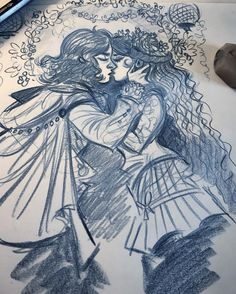 regram @valentinepasche Messy evening sketch! :) #fantasy #fantasyart #fun #kisskiss #pencilart #traditionalart #love #comicartist #sketch #sketches #valentinepasche #valp
