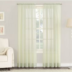 The Emily Solid Sheer Rod Pocket Single Curtain Panel is an elegant sheer voile curtain panel that captures the light and brings a regal beauty to any living space. Patio Door Drapes, Sliding Door Curtains, Sliding Patio Doors, Scarf Curtains, Window Scarf, Drapes Curtains, Sheer Curtain Panels, Rod Pocket Curtains, Grommet Curtains