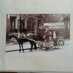 Horse Cart, Horse Drawn, Old London, Dairy, Milk, Delivery, Horses, Painting, Collection