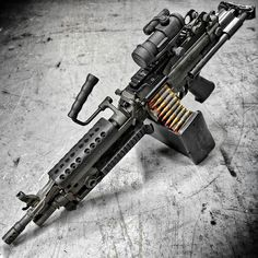 War Machine >:) The <a href='/fnhusa' target='_blank'>@fnhusa</a> M249 SAW Paratrooper edition machine gun at <a href='/otbfirearms' target='_blank'>@otbfirearms</a>. Loaded with all tracers. Metal as Fuck. <a href='/tag/badass' target='_blank'>#badass</a> <a href='/tag/military' target='_blank'>#military</a> <a href='/tag/gunporn' target='_blank'>#gunporn</a> <a href='/tag/beastmode' target='_blank'>#beastmode</a> <a href='/tag/metalhead' target='_blank'>#metalhead</a>