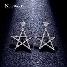 Find More Drop Earrings Information about NEWBARK Big Earrings White Gold Plated…