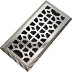 Modern Homes 4 in. x 10 in. Abstract Steel Floor Register in Brushed Nickel 87701 at The Home Depot - Mobile