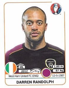 Darren Randolph, West Ham United Fc, Football Stickers, Albums, Euro, Baseball Cards, Collection, Ireland, Picture Cards
