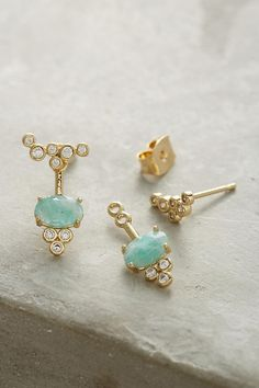 Umbrella Front-Back Earrings | Anthropologie