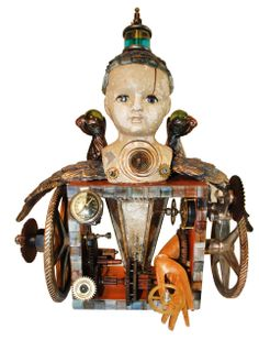 """""""Minerva"""" found object assemblage by Assemblique™"""