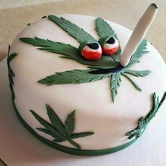 Cannabis prohibition is slowly but surely being lifted across the United States. Do you live somewhere with legal marijuana? Weed Birthday Cake, 20th Birthday, Cannabis, Medical Marijuana, Pinterest Cake, Puff And Pass, Cake Images, Homemade Cakes, Cake Designs