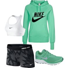 A fashion look from March 2013 featuring nike hoodies, NIKE and yoga activewear. Browse and shop related looks.