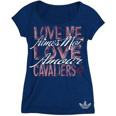 Cleveland Cavaliers Ladies Burnout Love Me Tee $32.00 SALE $9.99