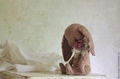 Купить Зайка пыльно-розовый - бледно-розовый, пепельно-розовый, зайка, зайка тедди