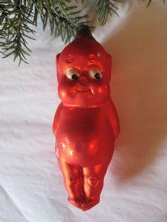 Little Devil Antique German Glass Christmas Ornament!